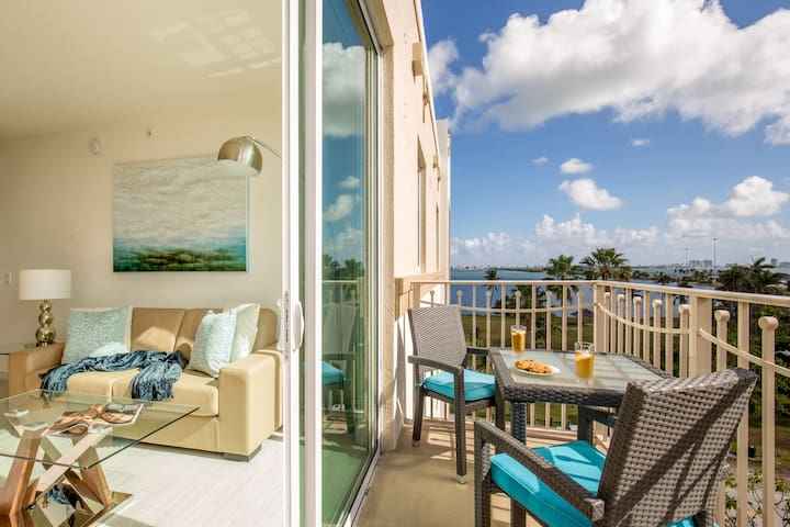 Deluxe two bedroom apartment partial bay view