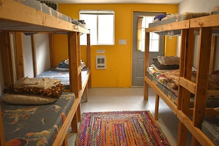 Male Dorm  Room in the Cloudcroft Hostel