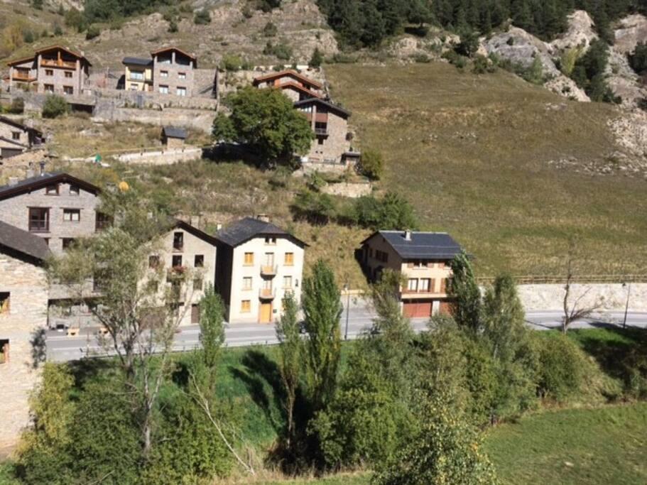 Vista de la casa