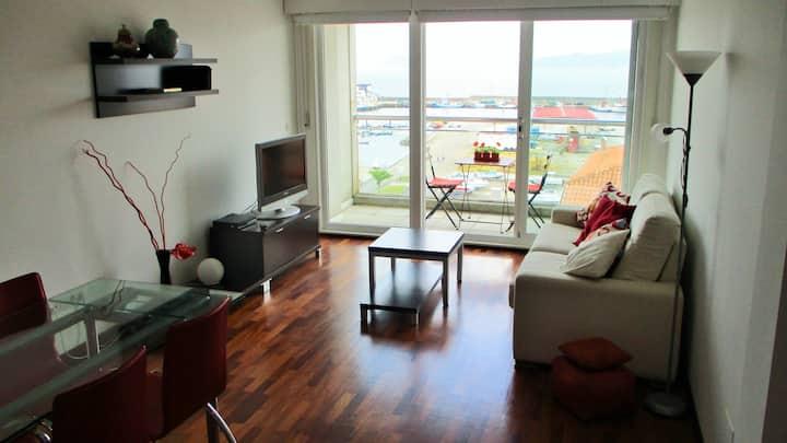 Apartamento con terraza y vistas al mar, Portosín