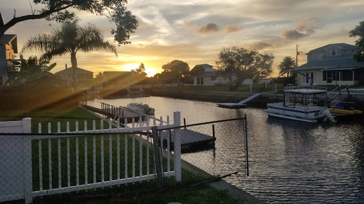 Home on canal with direct access to Gulf of Mexico
