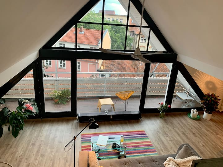 Penthouse in der City mit grosser Dachterrasse