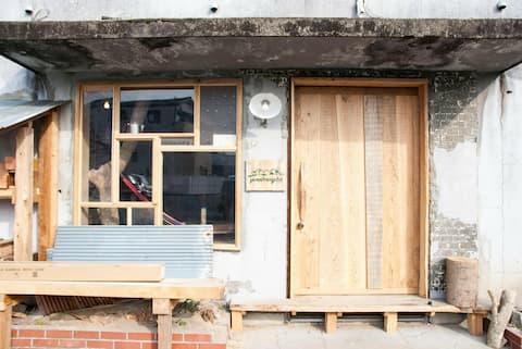 Fukuoka Hachiko ☆ Yamabering Lab, uma cabana onde você pode ficar na cidade de Kuroki ★ Em frente a uma loja de conveniência ★