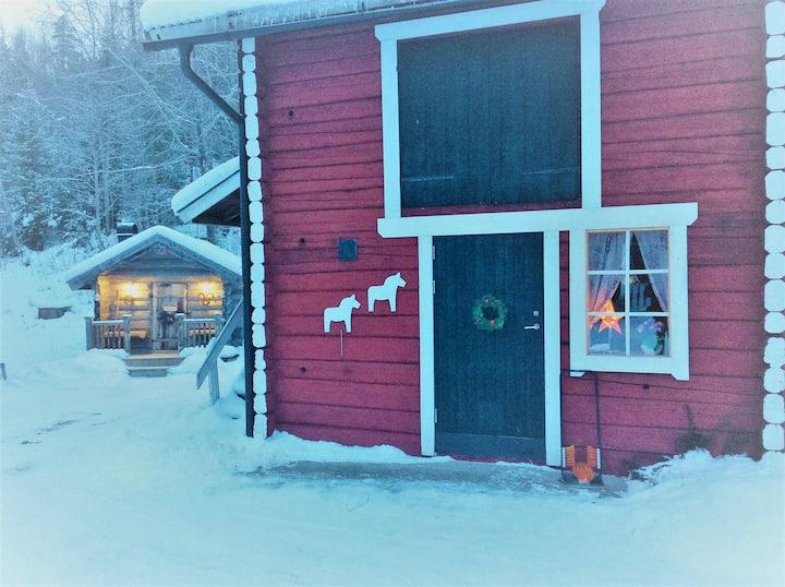 Gårdslägenhet nära Sälen (Stallet)