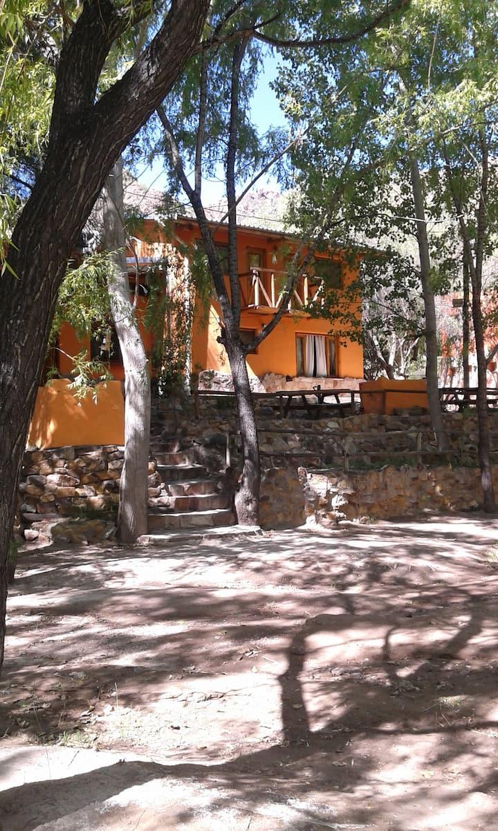 Cabaña a orillas del Río Atuel