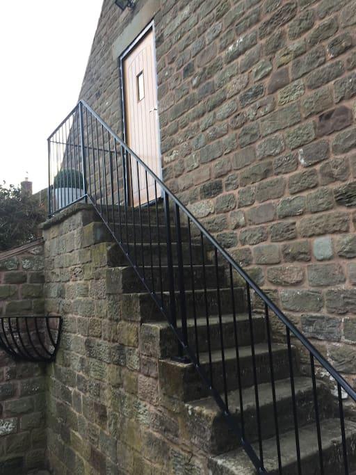 Access via stone steps