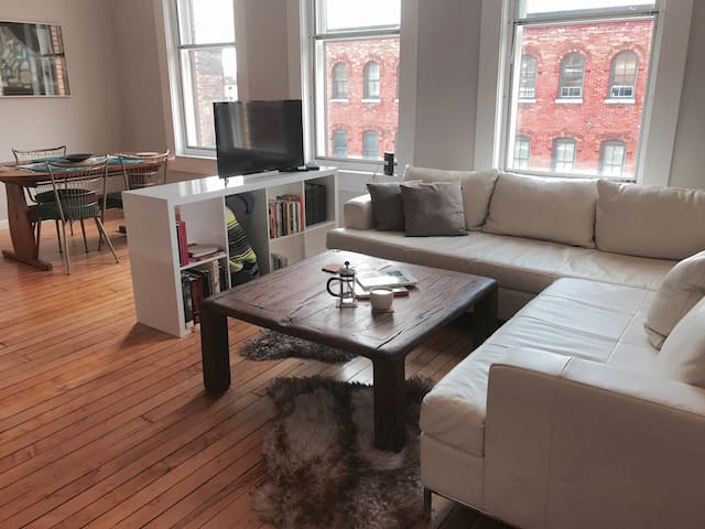 Bedroom in Luxury Armory Square Loft!