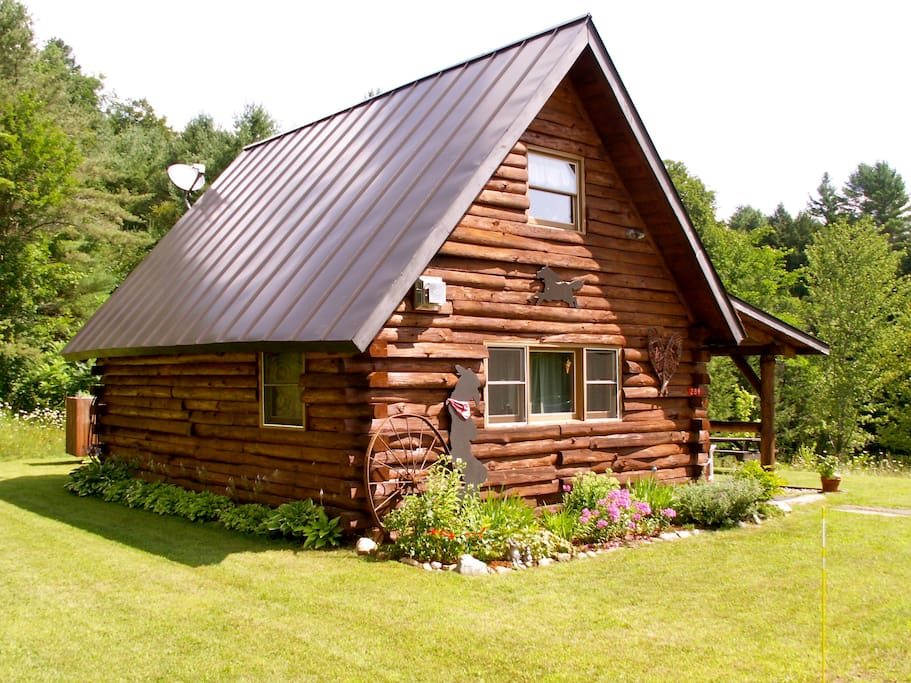 west cabin at vermont twin cabins cabanes louer On campeggio in vermont cabine