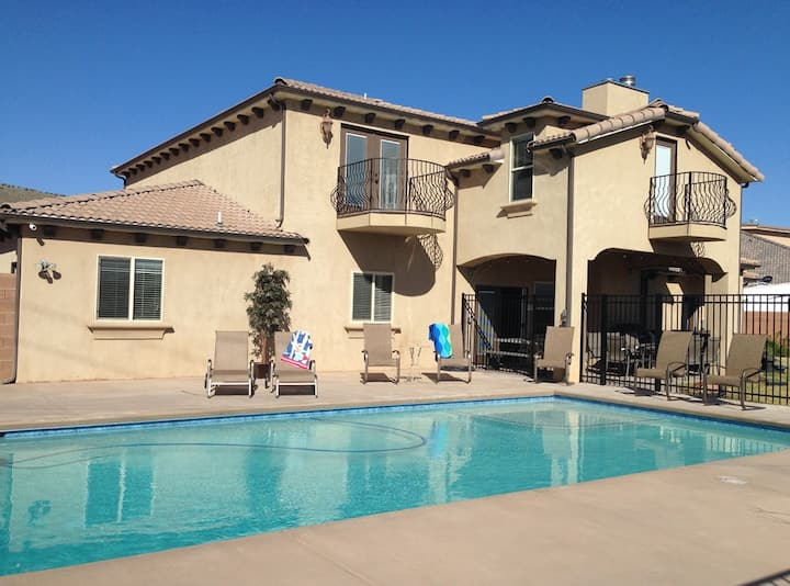 PRIV POOL 34'x18', 25 Min to Zion,  7 BD, SLPS 32