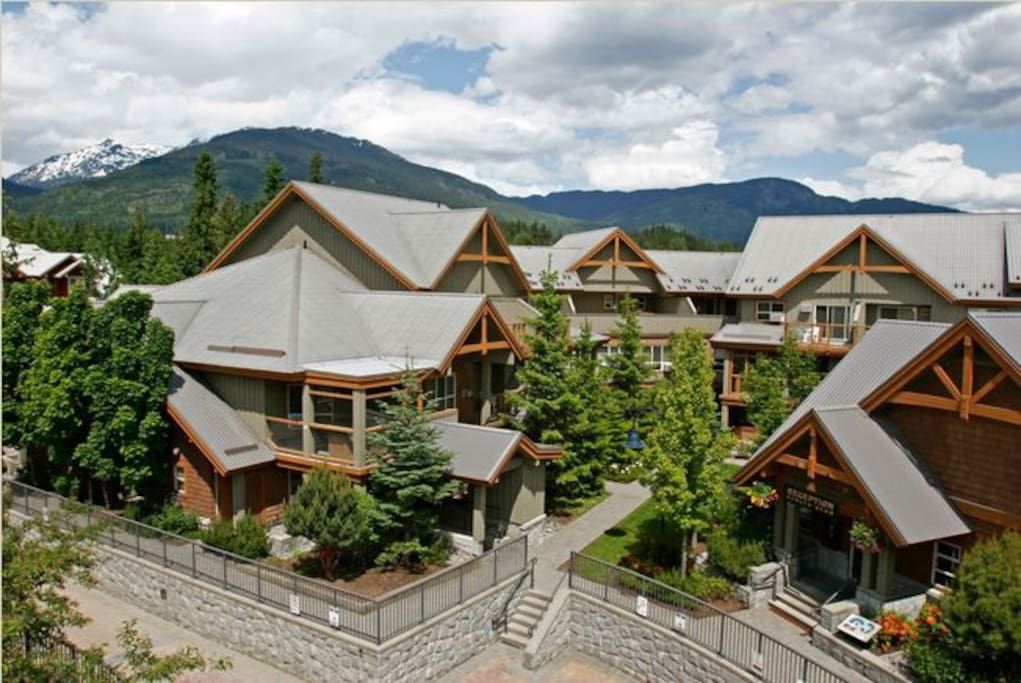 Glaciers Reach - Whistler Village Location. There is private hot tubs, a gym, free parking for up to four vehicles and a common heated pool and hot tub. Bike storage is also available.