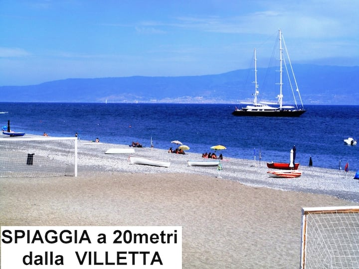 Villa single 20m from Sea to Stay and / orhealthcare Thermal near Taormina