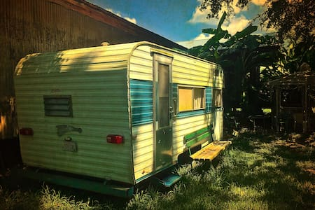 66 Fireball Camper @ The Whirlybird, Vintage Charm - Opelousas