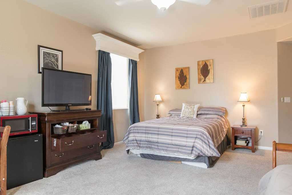 over 400 sq feet for you to relax in.