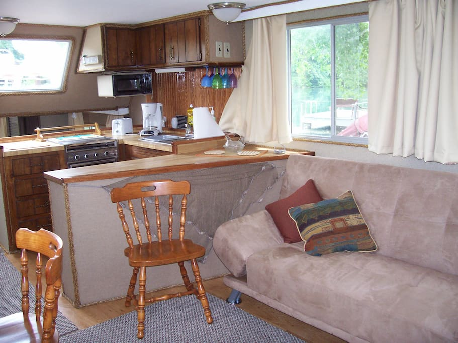 Main Cabin is large and comfortable.