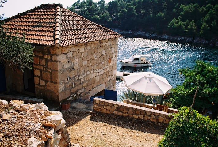 Stone house in the quiet bay