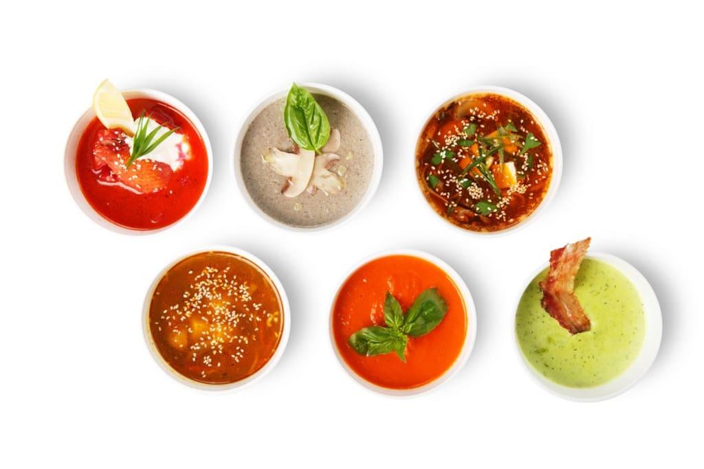 Hausgemachte Suppen im Café