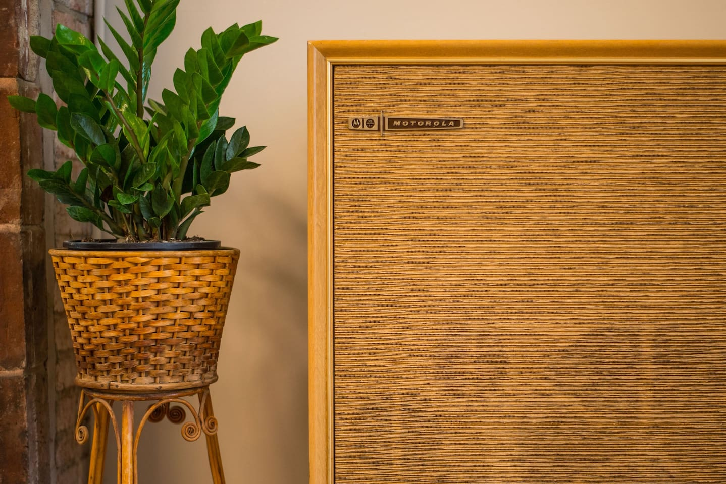 Enjoy our vintage record player (bluetooth adapted, too!) and ever growing record collection.