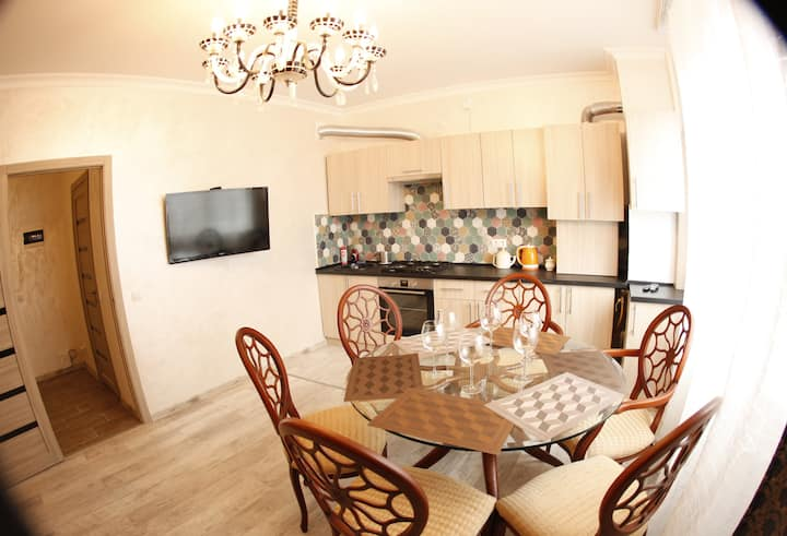 65м ВЕЛО-апартаменты +2спальни+кухня-гостиная
