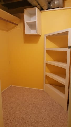 Walk-in Storage Closet