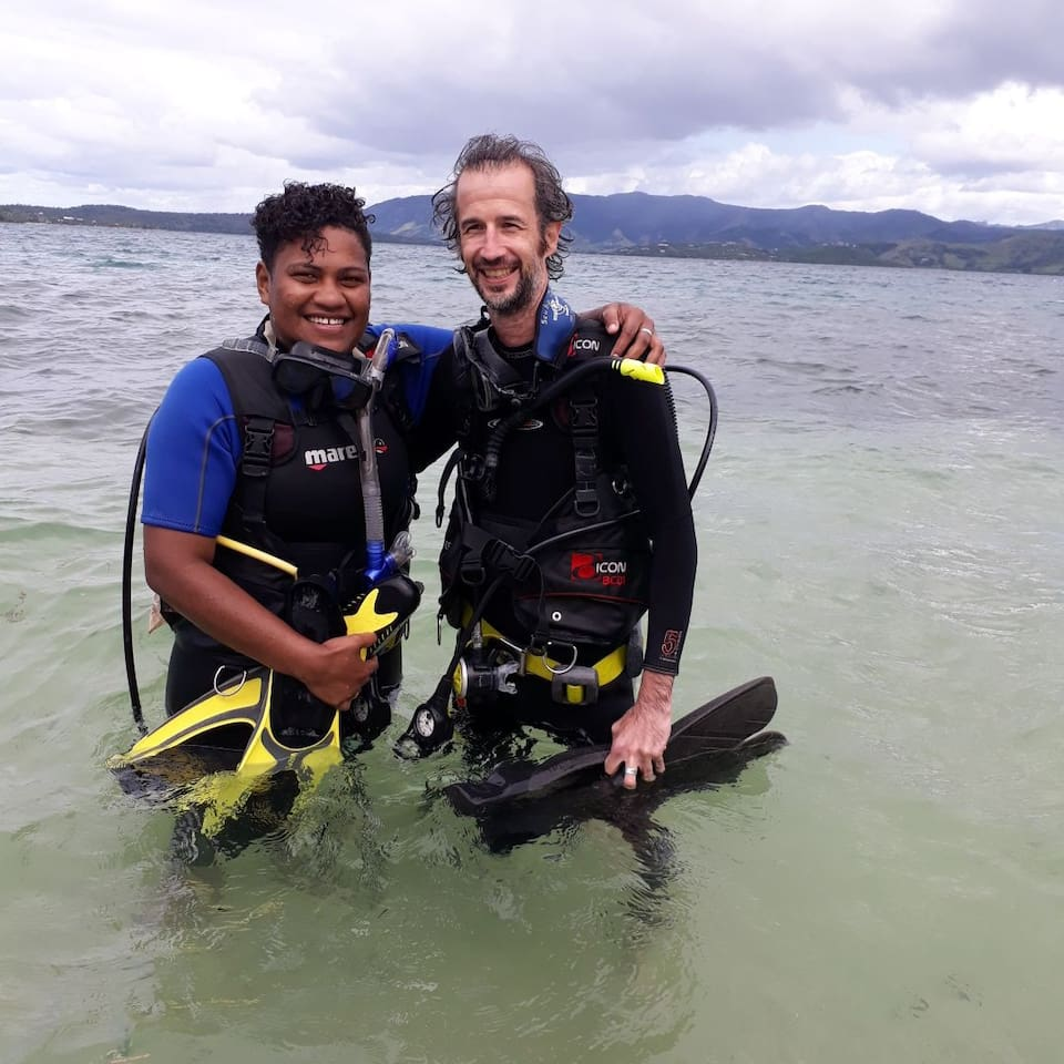 Learn to dive with Joji at Ring Gold Divers.