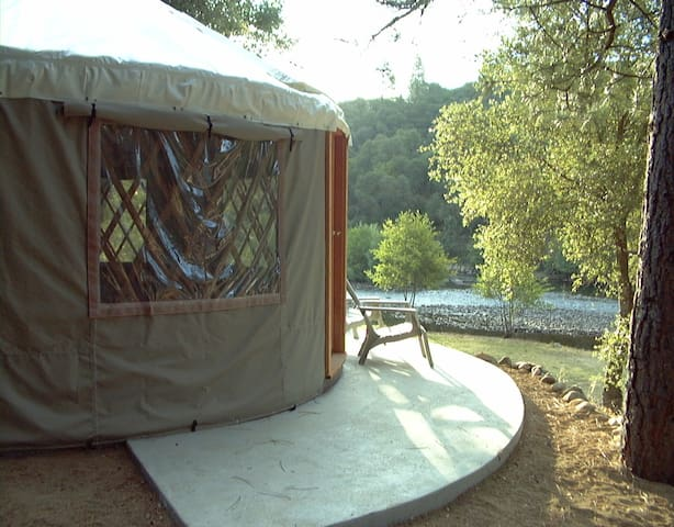 River view Yurt on the South Fork American River