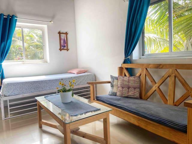 Sun-kissed Holidays, Vagator, Goa- Coral Marina 🐚