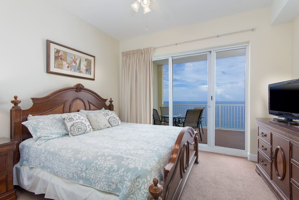 Wake Up To The Sounds Of Waves Crashing From This Gulf Front Master Bedroom