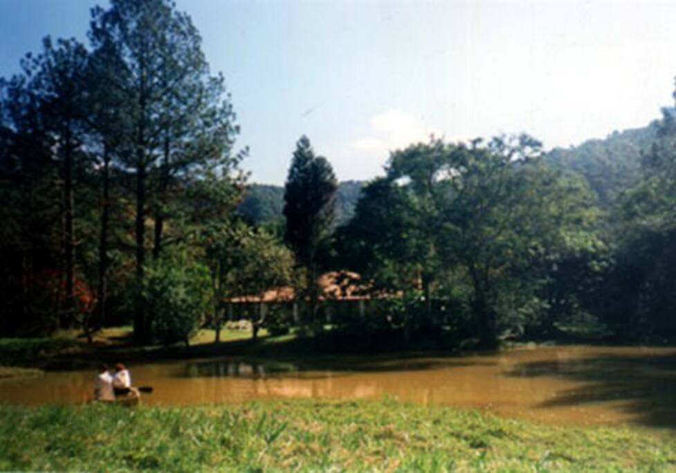 Lago e a Casa do Lago ao fundo