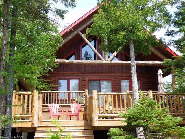 Lake Huron Waterfront Log Cabin