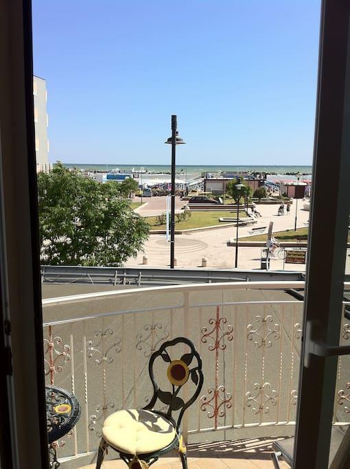 vista mare balcone principale