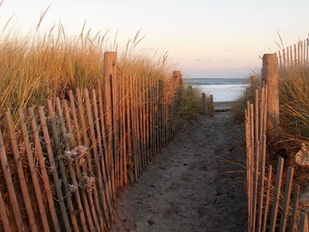Five minute walk to the beach ...