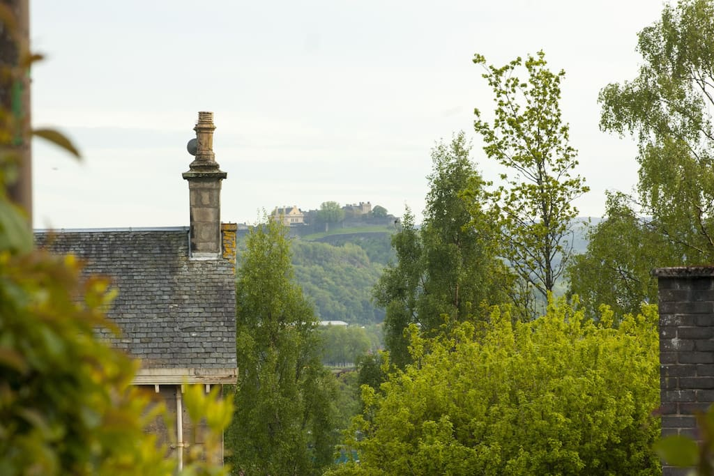 View of Stirling Castle from the grounds at the front of the property