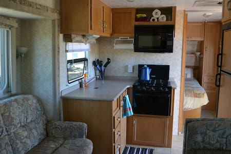 RV in quiet campground on cattle ranch - Lakeview