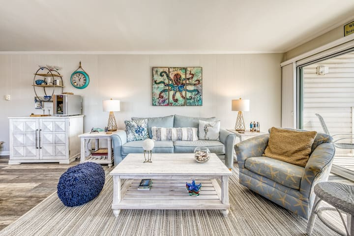 NEW LISTING! Boutique style condo w/private balcony & partial ocean views !