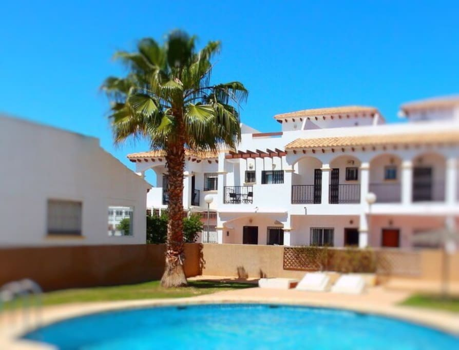 View from the pool - you have the whole house including the roof terrace!