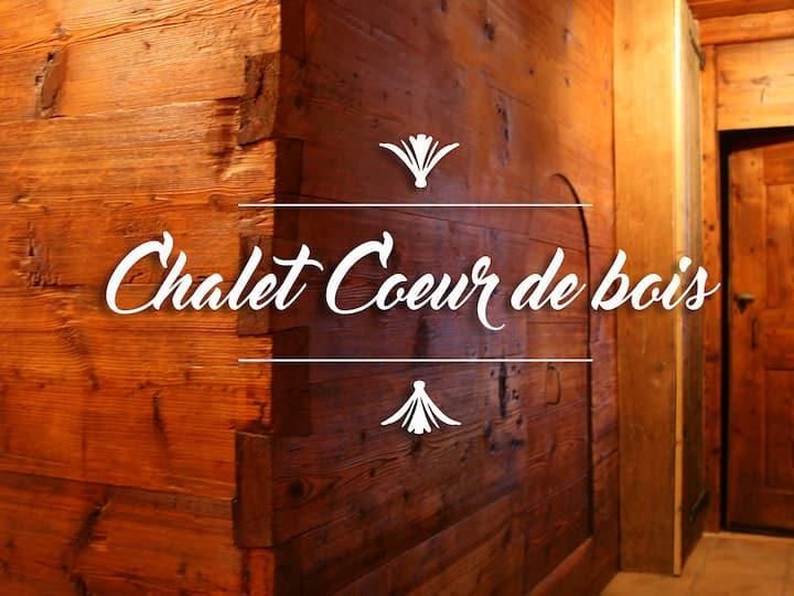 """Chalet """"Coeur de bois"""" face au Mont-Blanc 10p"""
