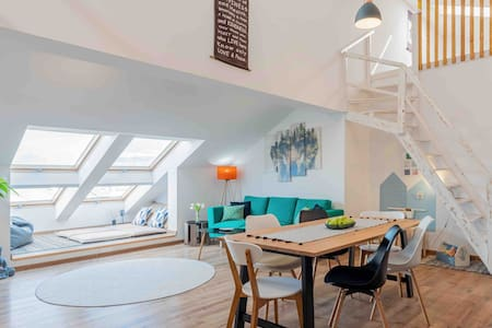 Unique airy Loft2b ❂relax❂selfcheckin❂ views&free℗