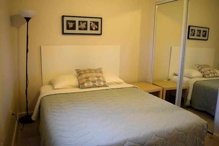 New studio apt.  near downtown, Queen bed