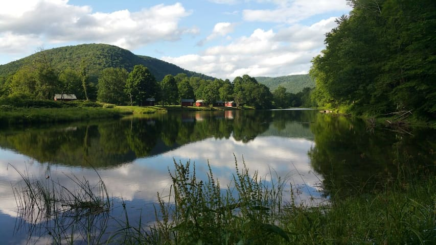 Catskills' Farmhouse & Riverfront - East Branch - Hus