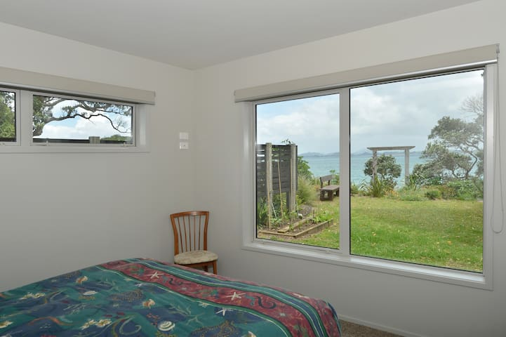 View from main bedroom - queen size bed
