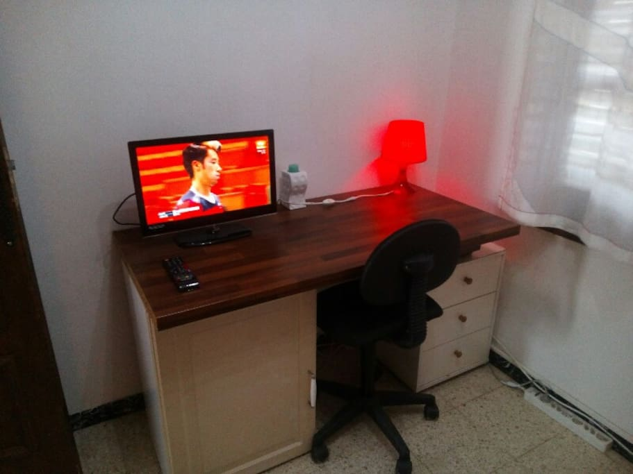 Worktable with TV