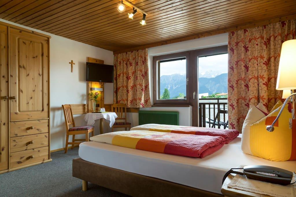 Doppelzimmer mit wunderbaren Bergblick
