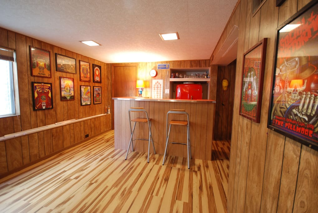 Custom Bar with Vintage Refrigerator
