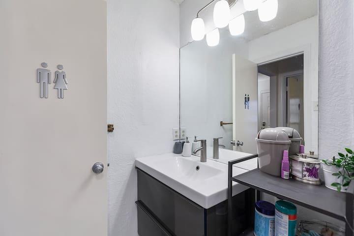 Newly renovated bathroom!