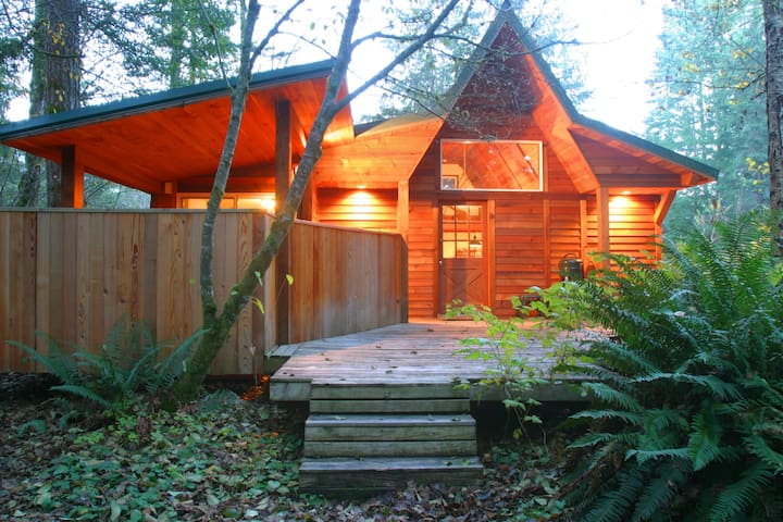 Woodland Cabin w/private HOT TUB @ Mt. Rainier