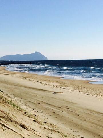 tra le dune di Sabaudia e il Parco