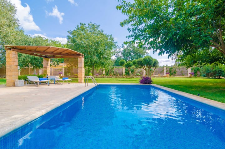 SES TENDES - Villa with private pool and beautiful garden. Free WIFI