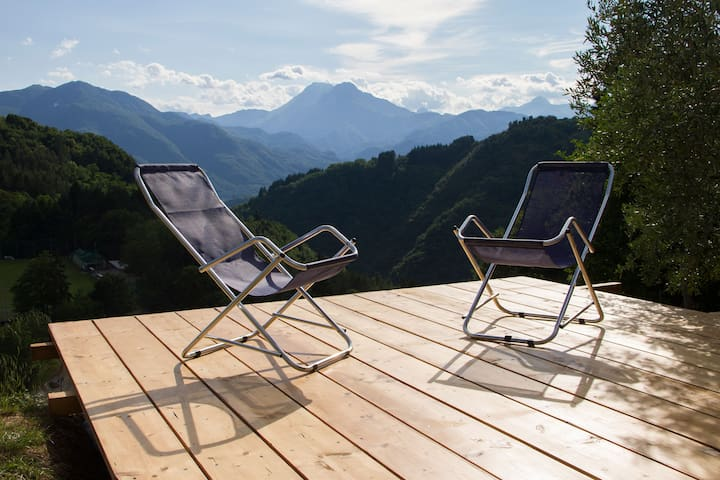 Chalet with pool and panoramic view - Coreglia Antelminelli - Cabin