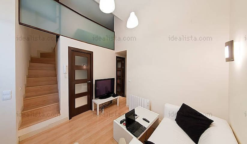 Modern Loft Duplex in Madrid near of Metro & Park - Madrid - Appartement