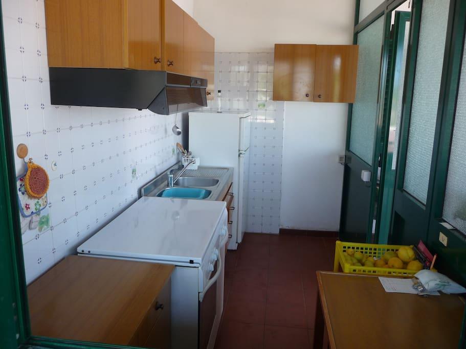 cucina esterna vetrata
